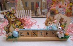 Whimsical Easter Scrabble Tile