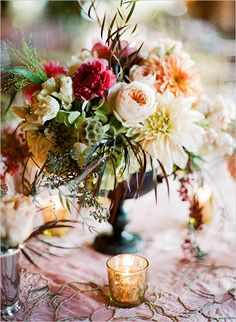 fall wedding centerpiece