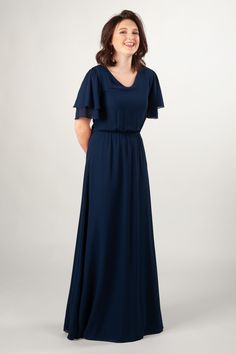 1480921e6d2 Modest Dresses   MW25437 Navy – LatterDayBride