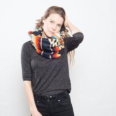 gemustert - nice Loop, inka fleece Schlauchschal - ein Designerstück von nicenicenice bei DaWanda