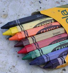 Vintage Old School Jumbo Crayons BACK TO SCHOOL Crayola Hexagonal circa 1960s 1970s