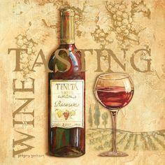 Vintage Wine Posterazzi Wine Tasting Square Canvas Art - Gregory Gorham x - Wine Tasting Square Canvas Art - Gregory Gorham x Wine Country Gift Baskets, Wine Baskets, Wine Making Process, Different Types Of Wine, Vintage Trends, Vintage Ideas, Vintage Stuff, Vintage Shoes, Vintage Designs