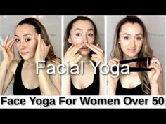 Facial Yoga for Women Over 50 (Anti Aging Face Exercises & Massage) Face Lift Exercises, Neck Exercises, Facial Exercises, Facial Yoga, Best Face Products, Lush Products, Face Wrinkles, Face Care, Skin Care