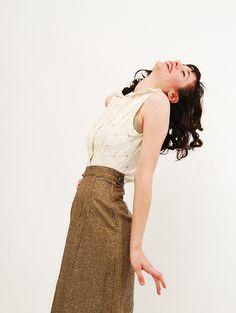 vintage tweed pencil skirt