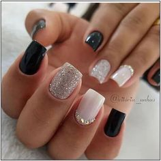 Semi-permanent varnish, false nails, patches: which manicure to choose? - My Nails Fall Acrylic Nails, Acrylic Nail Designs, Square Acrylic Nails, Trendy Nails, Cute Nails, Diy Ongles, Square Nail Designs, Short Nail Designs, New Years Nail Designs