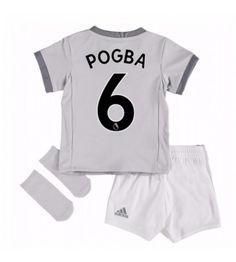 Manchester United Third Baby Kit 2017 18 with Pogba 6 printing Manchester United, Manchester City, Paul Pogba, Soccer Shop, Baby Kit, Third Baby, Old Trafford, European Football, Arsenal Fc