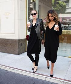 How to Style your Black Slip Dress when the Party's Over Slip Dress Outfit, Black Slip Dress, Dress Casual, Pantalon Cargo Kaki, Work Fashion, Fashion Outfits, Fashion Hacks, Dress Over Pants, Cashmere Dress