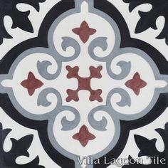 Fiore E Winter cement tile, from Villa Lagoon Tile.