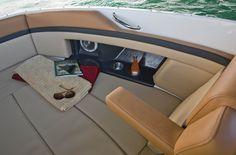 2014 Sea Ray® 270 SLX - Bow Rider Loungers w/Flip Down Armrests & Storage Below #searay http://www.searayofsaskatchewan.com/product/270-slx