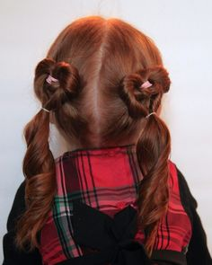 watch out for the woestmans: Valentines Day Heart Pigtails Hair Tutorial