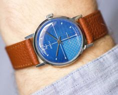 Navy men's watch Pobeda modern Soviet wrist watch by SovietEra