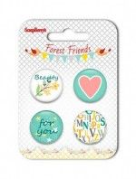 ScrapBerry's Forest Friends Metal Embellishments (For You) SCB340001049