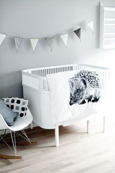 Habitaciones de bebé en gris ¡un color de tendencia! - http://decoracionbebes.com/12604-2/