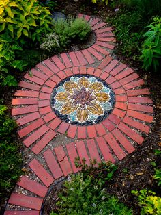 Dramatic Mandala-inspired Stone And Brick Spiral