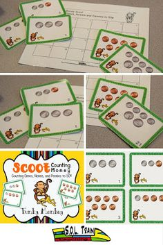Happy July 4th! Only a $1 today! This is a popular math game by SOL Train Learning! Your kiddos will love to learn about counting money to 50 cents while they move around the room. I like to use the cards in a math center with play coins for my students to practice before we play the game. They just love the monkeys!
