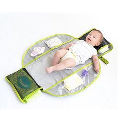 LulyBoo Changing Kit - Waterproof Compact Travel Kit Unfolds Into Diaper Changing Pad LulyBoo Diaper Clutch, Diaper Changing Pad, Baby Gear, Baby Items, Kit, Compact, Diapering, Travel, Amazon