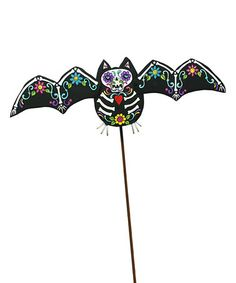 Look what I found on #zulily! Day of the Dead Bat Garden Stake #zulilyfinds