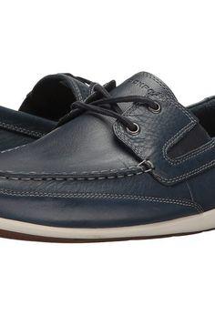 Rockport Bennett Lane 4 Boat Shoe (New Dress Blues Leather) Men's Shoes -  Rockport