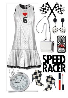 """""""Speed Racer"""" by ladygroovenyc ❤ liked on Polyvore featuring Oscar de la Renta, Kendall + Kylie, Christian Dior, metallic and minidress"""