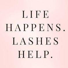 Life happens. Lashes help. Red Aspen