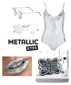"""Metallic #Topshop swim wear"" by felisha622 on Polyvore featuring Topshop and Spitfire"