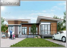If having a multiple story house is not for you, you have a choice and can opt for a single story house. This single story house is big enough to still provide relaxation and space for the family. Modern Bungalow House, Cottage Style House Plans, Bungalow House Plans, Loft House, Modern House Design, One Storey House, Home Modern, Model House Plan, House Blueprints