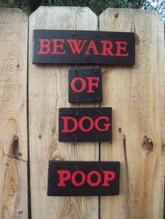 Beware of Dog Poop Sign Pet Decor Dog Sign Red door KMelvilleDesigns