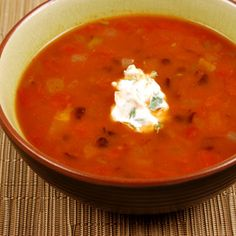 Quick Black Bean Soup, a recipe from ATCO Blue Flame Kitchen's Everyday Delicious 2003 cookbook.