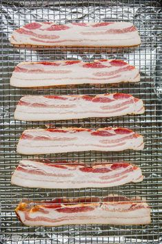 How to make the best bacon | How to bake bacon in the oven | This cut bacon | brown sugar bacon | Maple Bacon | How to make perfect bacon | Bacon for a crowd | easy bacon | Candied Bacon | Bacon recipe | No Mess Bacon | how to bake bacon at 350 Bacon Wrapped Onion Bombs, Bacon Wrapped Pineapple, Oven Baked Bacon, Bacon In The Oven, Father's Day Breakfast, Christmas Breakfast, Breakfast Recipes, Candied Bacon, Maple Bacon
