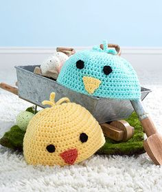 Baby Chick Hats Free Crochet Pattern LM5493
