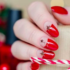 Beautiful Red and Gold Christmas nails --- 12 Newest Christmas Nail Art Ideas To Try - SoNailicious