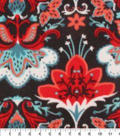 Anti Pill Fleece Fabric-Marrakesh Floral