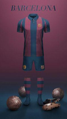 FC Barcelona - Home Football Dress, Football Uniforms, Football Jerseys, Football Soccer, Football Players, Camisa Vintage, Messi Soccer, Soccer Kits, Football Wallpaper