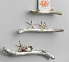 Silver Three Set Driftwood Shelf