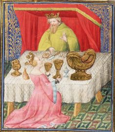 The case of noble men and women. Painted Floor Cloths, Giovanni Boccaccio, Isabella Of Castile, Queen Isabella, Medieval World, Florence, Bnf, The Old Days, Vintage Outfits