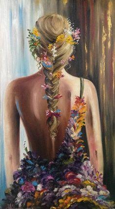 21 Must Known 2019 Tipps und Ideen für die Kunstmalerei - Diy Canvas Art, Acrylic Painting Canvas, Art Drawings Sketches, Portrait Art, Female Art, Aesthetic Art, Amazing Art, Watercolor Paintings, Colorful Paintings
