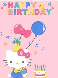 Hello Kitty My Melody, Sanrio Hello Kitty, Birthday Wall, Happy Birthday, Hello Kitty Invitations, Hello Kitty Themes, Hello Kitty Pictures, Soft Pink Color, Hello Kitty Birthday