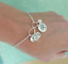 Family Tree Bracelet with initials Mothers by BriguysGirls on Etsy, $41.00