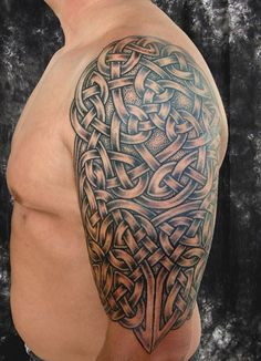 Pat Fish is a veteran tattooist internationally renowned for her powerful and intricate Celtic knot-work tattoos.