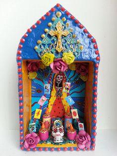 Dia de los muertos Mexican folk art