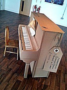 cardboard piano aus alt mach neu pinterest aus alt mach neu alter und neuer. Black Bedroom Furniture Sets. Home Design Ideas