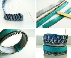 DIY- Zipper Bracelets ....The girls loves them......