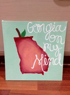 Canvas Board Acrylic Painting of the state by DelightedTreasures, $17.00