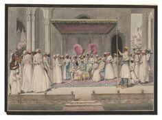 Mubarak ud-Daula, Nawab of Murshidabad, in durbar with the British Resident, Sir John Hadley D'Oyly