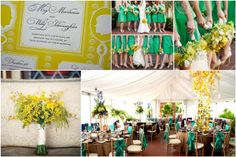 Emerald and Mimosa Wedding Inspiration