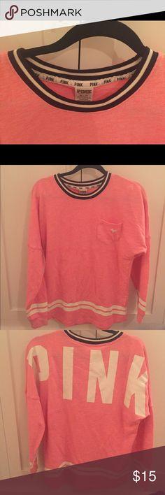 Love Pink Sweater New never worn pink sweater PINK Victoria's Secret Tops Sweatshirts & Hoodies