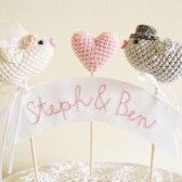 kissing love birds cake topper banner (by Cherry Time) via The Marketplace Handmade Wedding, Diy Wedding, Dream Wedding, Wedding Ideas, Bird Cake Toppers, Love Birds Wedding, Bird Cakes, Wedding Wishes, Here Comes The Bride