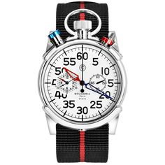 CT Scuderia / Stainless Steel and Black and Red Nato Strap