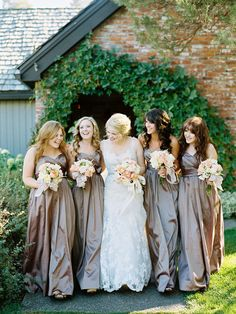 Love these mauve bridesmaid dresses. Photo by Ryan Ray Photography. www.wedsociety.com #wedding #bridesmaids