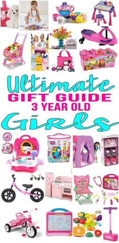 BEST Gifts 3 Year Old Girls! Top gift ideas that 3 yr old girls will love! Find presents & gift suggestions for a girls 3rd birthday, Christmas or just because. Get ideas from learning toys to educational gifts to award winning toys and more! Find unique, memorable and age appropriate toys for three year olds. Get children the toy of the year to celebrate their third birthday. Amazing products for daughters, grandkid, niece, friend or best friend. Shop the best toys for 3 year old girls now!
